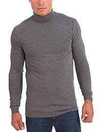 Men's Dri-Fit Turtle Neck Long Sleeve Athletic Peformance Shirt