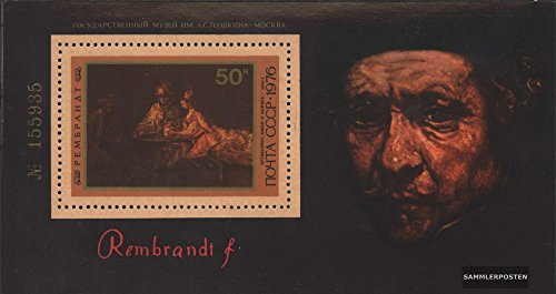 Soviet Union Block 116 (Complete.Issue.) 1976 Birthday of Rembrandt (Stamps for Collectors) Painting -