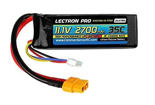 Lectron Pro 11.1 Volt - 2700mAh 35C Lipo Battery for DJI Phantom with XT60 Connector