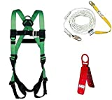 SECULOK Fall Protection Bucket of Safe-Tie with Temper Anchor, 50-Foot Vertical Lifeline Assembly and HUV