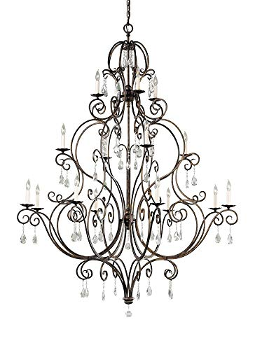 - Feiss F2110/8+4+4MBZ Chateau 16-Light Multi-Tier Chandelier, Mocha Bronze