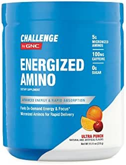 CHALLENGE By GNC Energized Amino, Ultra Punch, 11.11 Ounce