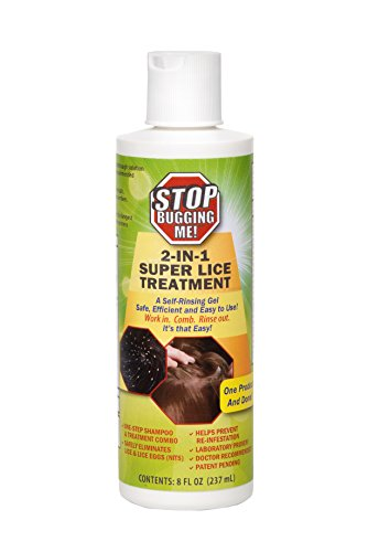 EcoClear Products 774481, Stop Bugging Me! All-Natural Non-Toxic 2-In-1 Super Lice Treatment Gel Shampoo, 8 oz.