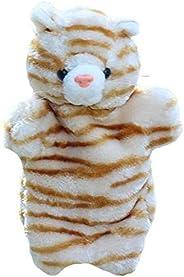 Plush Animal Kitty Hand Puppets Cat Stuffed Animals Toys for Imaginative Pretend Play Stocking Storytelling Gi