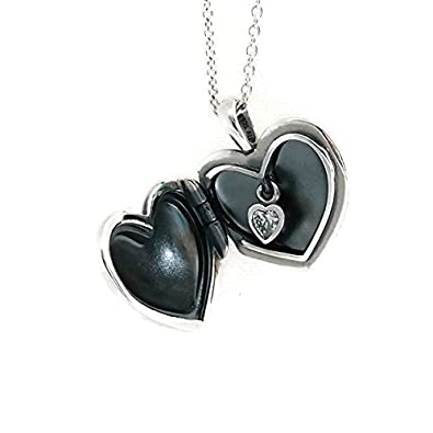 Amazon pandora plain heart love locket clear cz necklace pandora plain heart love locket clear cz necklace pendant 390355cz 90 aloadofball Images