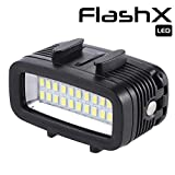 FLASHX Diving Light High Power Dimmable Waterproof 700 Lumen LED Video Light Fill Night Light Diving Underwater Light Waterproof 147ft(40m) for Gopro Hero 7/6/5/5S/4/4S/3+/2/SJCAM/YI Action Cameras