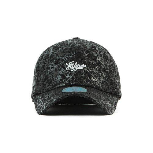 Hatrita-J Men And Women Baseball Cap Personality Pattern Ink Curved Eaves Graffiti Coating Hat Leather Peaked Cap Black