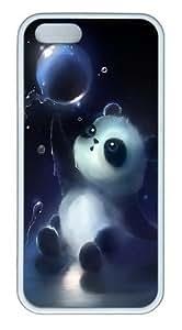 meilz aiaiPanda Magic Bubbles TPU Silicone Rubber iPhone 5 and iPhone 5S Case Cover - Whitemeilz aiai