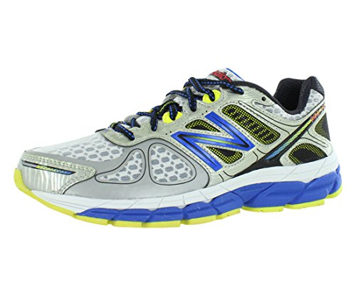 New Balance Men's M860SB4, Silver/Blu, 8.5 D US