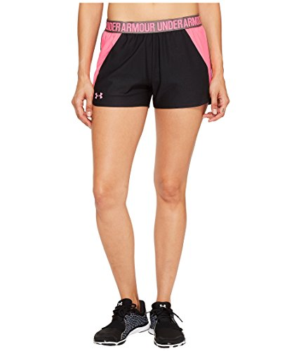 Under Armour Women's New Play Up Shorts Black/Pink Shock Shorts