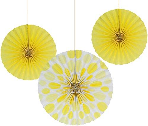 yellow paper fan decor - 1
