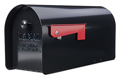 - Gibraltar TB1B0000 Tuff Body Galvanized Steel Post-Mount Mailbox,10 x 7.5 x 20.75-Inches,Black