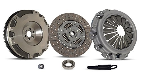 Clutch And Conversion Flywheel Kit works with Nissan Frontier Xe S Sv Se Extended Crew Cab Pickup 2005-2013 2.5L L4 GAS DOHC Naturally Aspirated