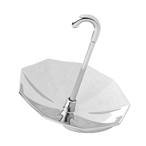 Chrome Jewelry Display Stands Umbrella Small Whimsical Design Unisex Silver Toned Fine Quality-MegaTrade Prime (Unisex Whimsical Jewelry)