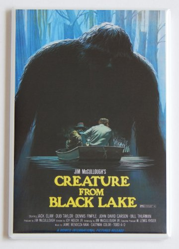 Creature from Black Lake Movie Poster Fridge Magnet (2 x 3 inches)