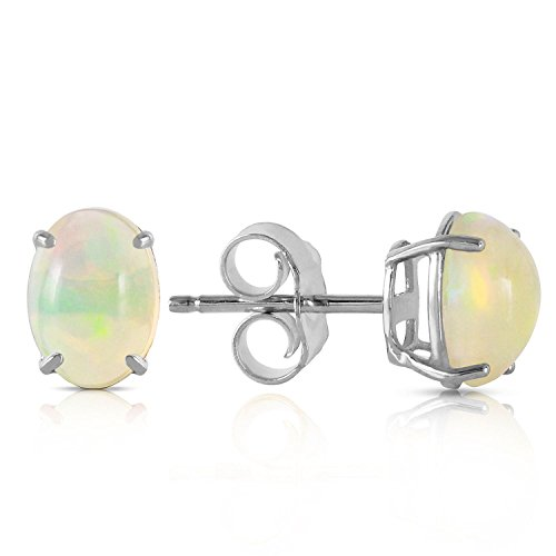 ALARRI 0.9 Carat 14K Solid White Gold Yours To Love Opal Earrings by ALARRI