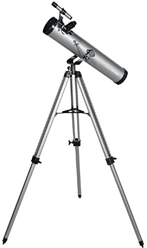 FirstView 3'' Reflector Telescope With Universal Smartphone Camera Adapter (Silver)