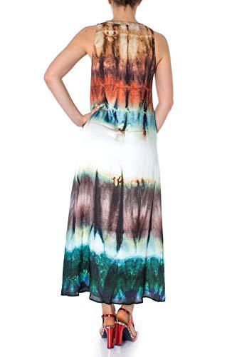 Vestito Bruna Lungo Donna Desigual Verde 19swvw19 Vest ApF4Z8Z