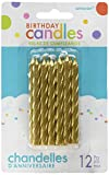 Amscan 170435 Large 3.25'' Spiral Candle Sets (24ct), Gold Children's Party Decorations 3 1/4'',