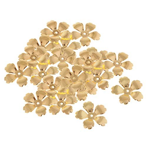 - Baosity 30Pc Golden Metal Filigree Flower Beads Caps Spacer Beads for Jewelry Making