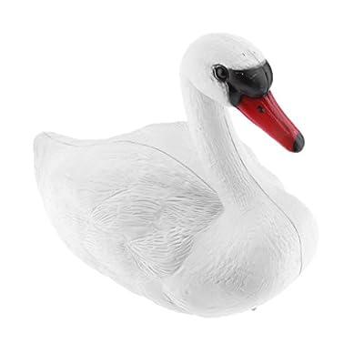 Jili Online SWAN DECOY POND DECORATION FLOATING ORNAMENTAL LIFESIZE Goose Bird Scare