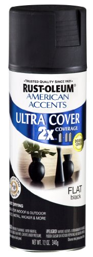 Rust-Oleum 269451 American Accents Ultra Cover, Ultra Flat Black