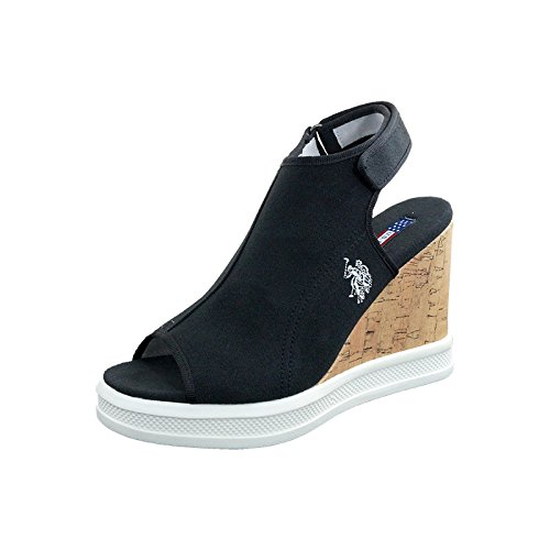 Heel c1 Us Dhome4172s6 Dhome4172s6 Sughero Da Polo Assn Donna Assn Nera Sandali Shoes In Women's Tacco Sandals Black With Shoes Polo c1 Us Con Scarpe Cork Scarpe xv4wEf7qw