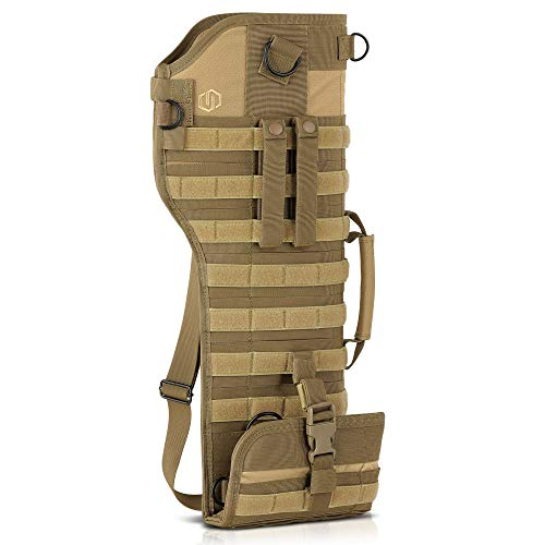 Savior Equipment Premium Tactical Shotgun Rifle Scabbard MOLLE Gun Case - Adjustable Carry Shoulder Strap, Firearm Protection Sling -