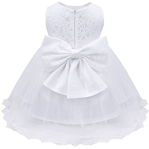 TiaoBug Baby Girls Flower Ruffled Princess Bowknot Wedding