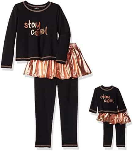 d9bd310d0b249 Dollie & Me Big Girls' Winter Tutu Skirted Legging Set with Matching Doll  Outfit