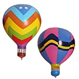 hot air balloon prop - 2pcs/set Hot Air Balloon Inflatable Hanging Balloons for Decoration of Kids' Birthday/Wedding/Party/Event/Photo Props Model Toy