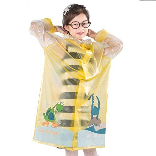 - GWM Umbrellas Kids Raincoat, Children Rain Coat Lightweight Portable Waterproof Outdoor for Boys Girls (Color : Yellow, Size : XL)