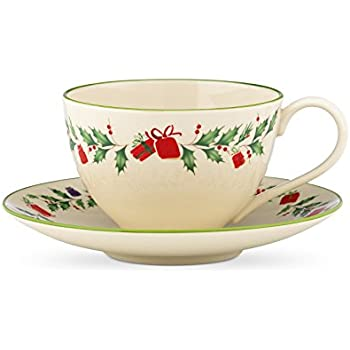 Lenox Holiday Inspirations and Illustrations Cup and Saucer Set