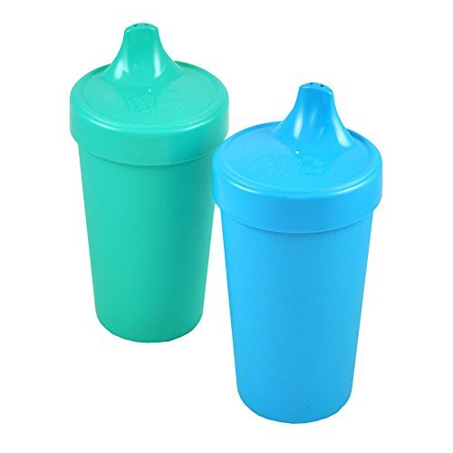 Re-play 2 Pack Spill Proof Cups, Under the Sea