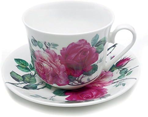 Roy Kirkham Large Breakfast Cup /'Lilac Roses/' Fine Bone China NEW