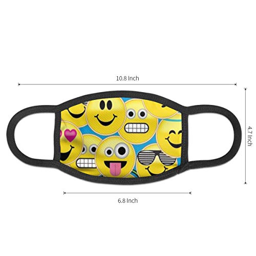 NOT Masks Emoji Emoticons Smiley Face Pool Cover for Men& Women Anti-Bacterial Reusable Windproof Thermal Mask£¨1 PCS