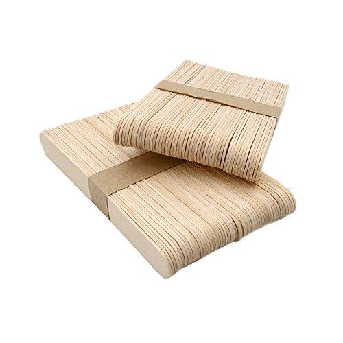 100 Palitos de madera para helados, 15x1,6 cm, palos de polo de madera natural, Palitos de helados, Palitos de madera para manualidades DIY hecho en casa JH