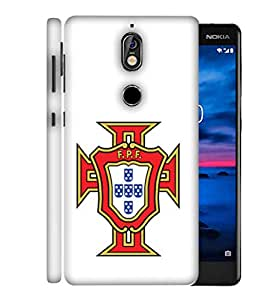 ColorKing Football Portugal 07 White shell case cover for Nokia 7