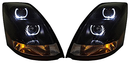 - Volvo VNL VNM 2004-2015 LED U Bar Headlights DOT SAE Headlamps Halogen 1 PAIR