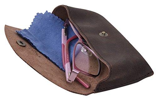 Gusti Pelle studio porta occhiali in pelle accessorio per occhiali da vista da sole unisex marrone antico 2A23-26-3 Exclusivo Precio Barato 7JjxGqOEM