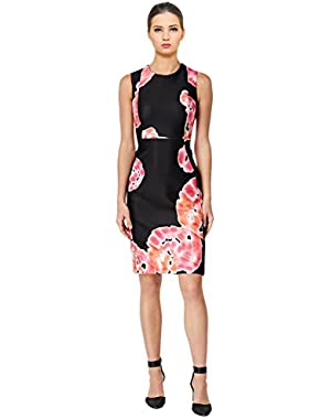 Calvin Klein Tie-Dye Bloom Sleeveless Sheath Dress