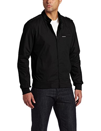 Members Only Men's Iconic Racer Jacket, Black, X-Large