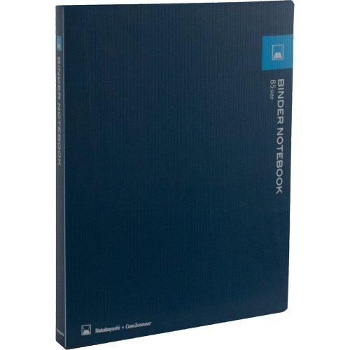 Nakabayashi CamScanner Binder Notebook, B5 Size, 20 Sheets/40 Pages 6mm Line, 26 Holes, Blue (62194)