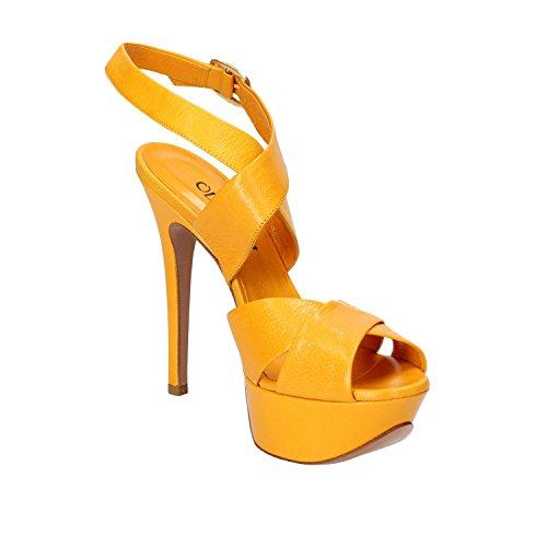 OLIMPIA - Sandalias de vestir de Piel para mujer amarillo amarillo