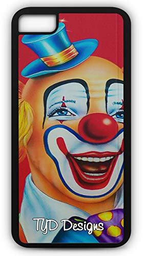 iPhone 8 Case Clown Happy Make Up Circus Birthday Party Customizable TYD Designs in Black Rubber