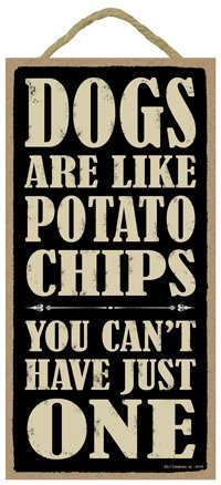 SJT ENTERPRISES, INC. Dogs are Like Potato Chips You Can't Have just one 5