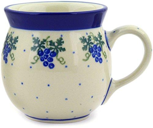 Polish Pottery Coffee Mug Bubble 8 oz Grape (Coffee Mugs Grapes)