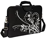 Laurex 1775BS 17-Inch Laptop Sleeve Case Bag with Handle and Shoulder Strap (Black)