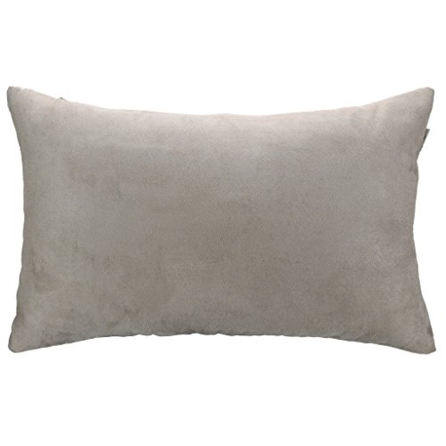 12 Solid Light (Pony Dance Supersoft Solid Faux Suede Throw Pillowcase for Livingroom, Light Grey,)