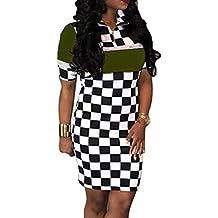 DongDong Hot Sale! Dress Hot Sexy Lattice Printing Women Nightclub Fashion Clothes Club Dress